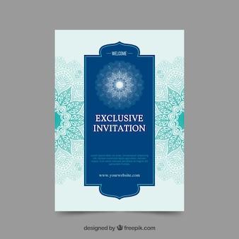 Exclusive invitation with mandala design