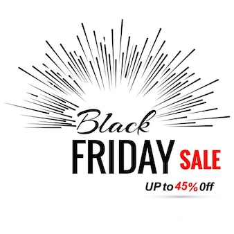 Explosive white background for black friday