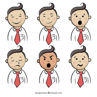 Expressions of businessman collection