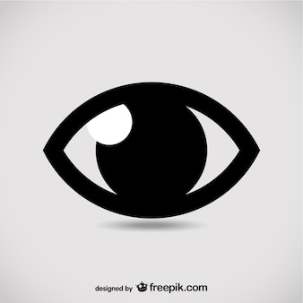 Eye symbol vector illustration