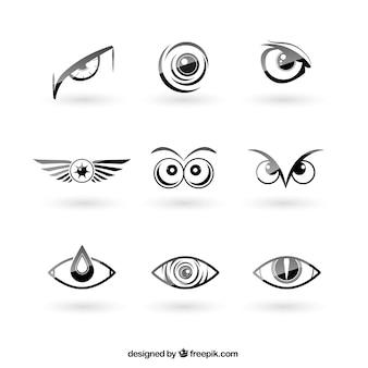 Eyes logos pack