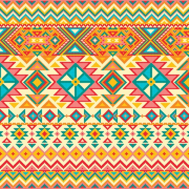 Fabric texture with geometric pattern