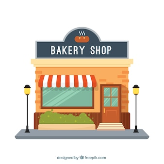 Facade bakery shop