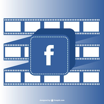 Facebook button and film roll