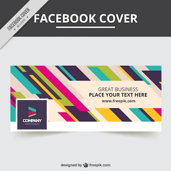 Facebook cover of colorful stripes