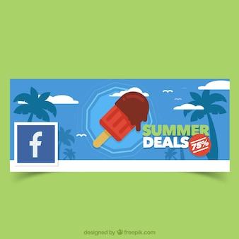 Facebook cover of ice-cream