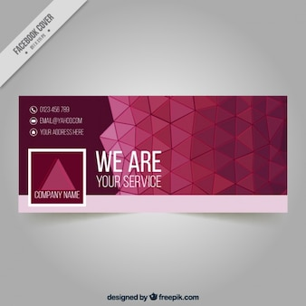 Facebook cover triangles for company