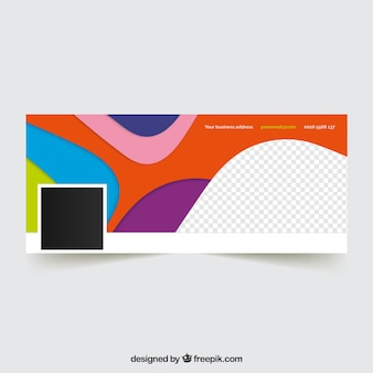 Facebook cover with abstract colorful shapes