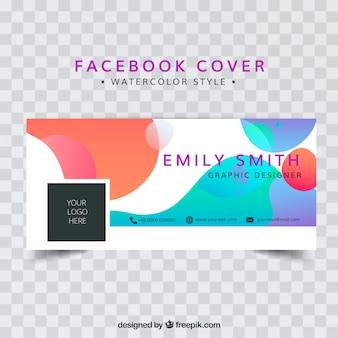 抽象的な形状のFacebookカバー