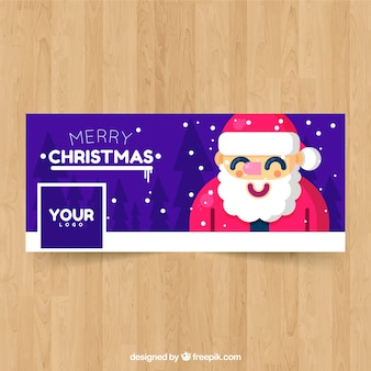 Facebook cover with santa claus