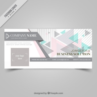 Facebook cover with triangles company