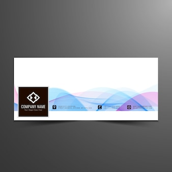 Facebook cover with waves