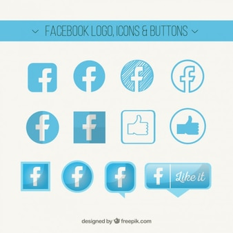 Facebook logo, icons and buttons