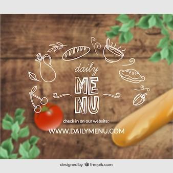 Facebook post, daily menu