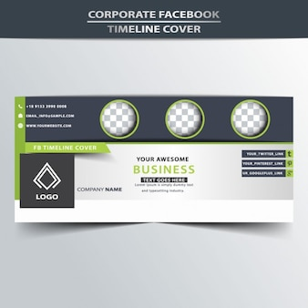 Facebook timeline cover with circles