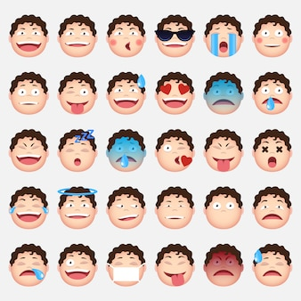 Faces emoticons collection