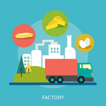 Factory background design