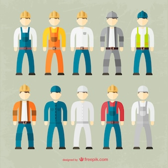 Factory worker outfit collection