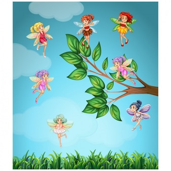 Fairies background design