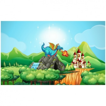 Fairy tale background design