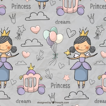 Fairytale pattern in cute style