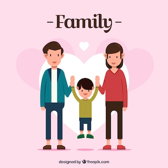Family background of parents with their child
