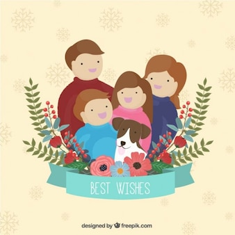 Family best wishes card