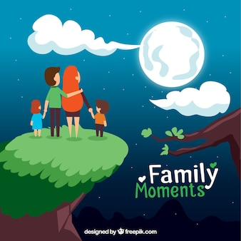 Family moments illustration