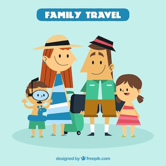 Family travel in vintage style