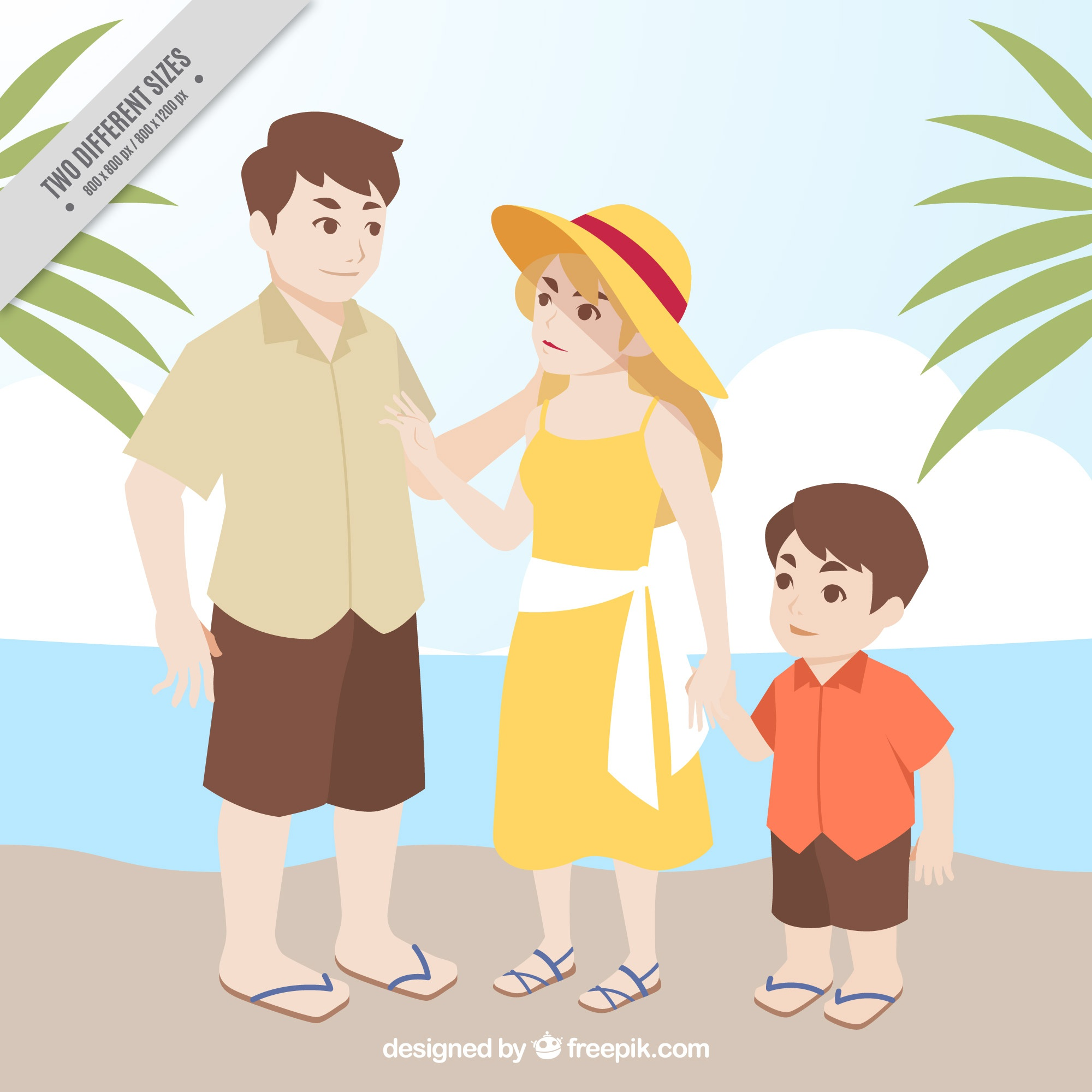 Family vacation background