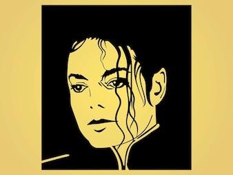 famous disco celebrity  Michael jackson vector