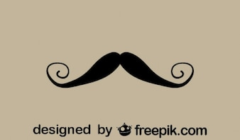 Fancy Retro Mustache Minimalist Icon