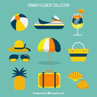Fantastic assortment of summer elements