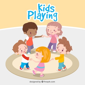 Fantastic background of children playing together