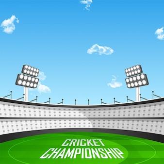 Fantastic background of cricket stadium