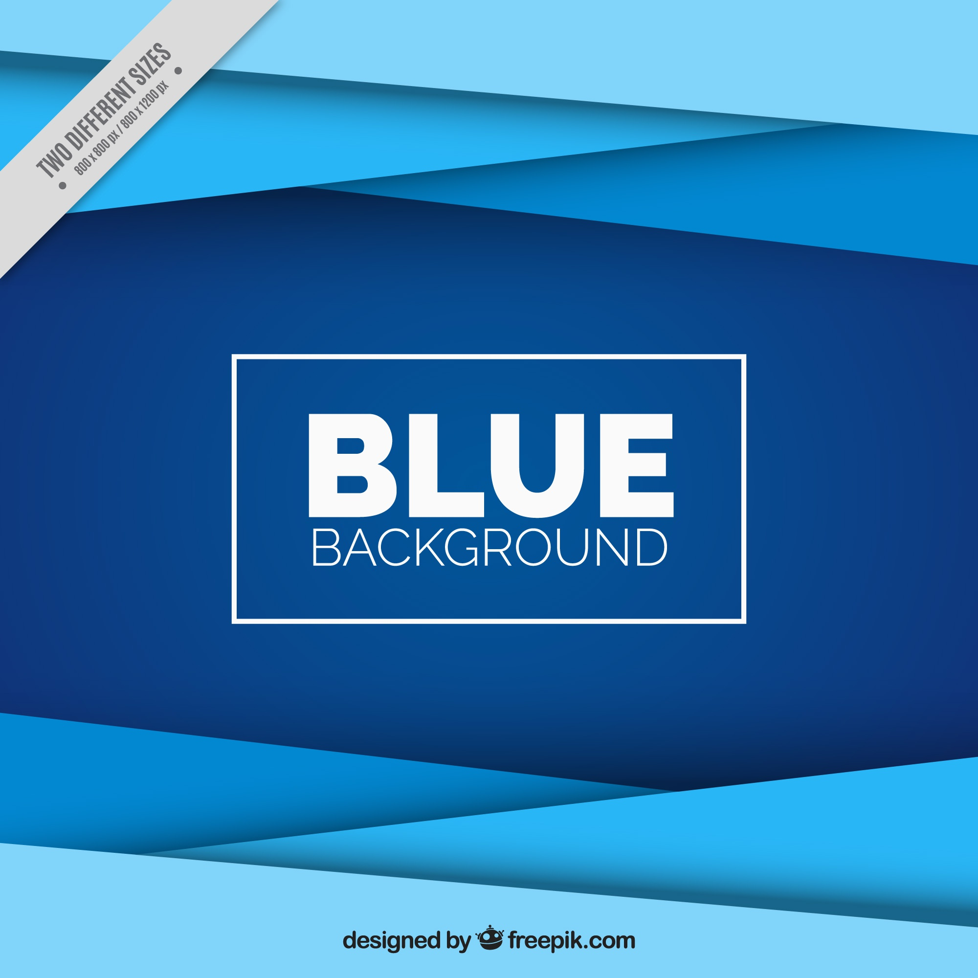 Fantastic background with geometric forms in blue tones