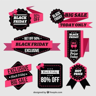 Fantastic badges and ribbons for black friday