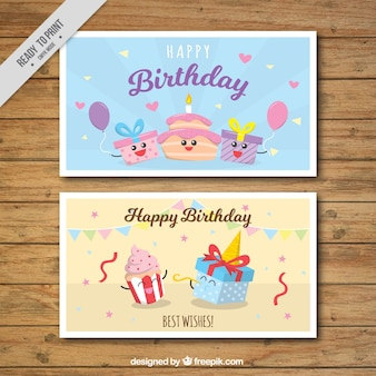 Fantastic birthday cards with cheerful characters