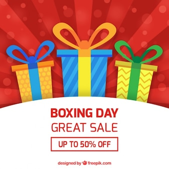 Fantastic boxing day background with great sales