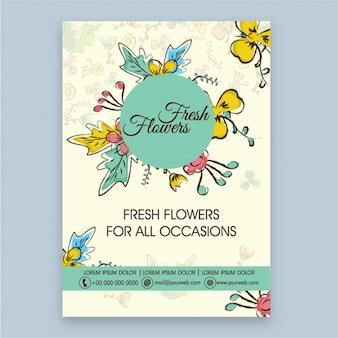 Fantastic brochure for a florist