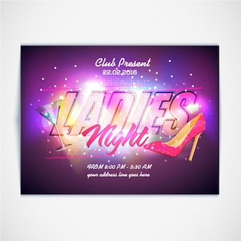 Fantastic brochure for ladies night