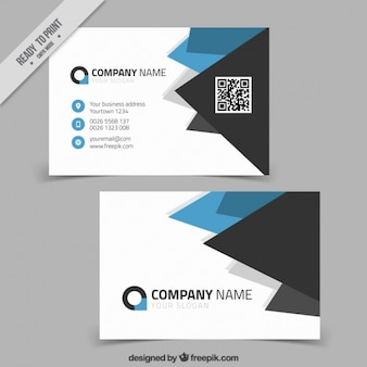 Fantastic business card with geometric forms in different colors