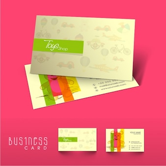 Fantastic business card with teddy bear for toy shop