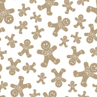 Fantastic christmas background with smiling gingerbread cookies