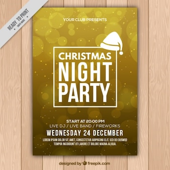 Fantastic christmas flyer with bokeh effect