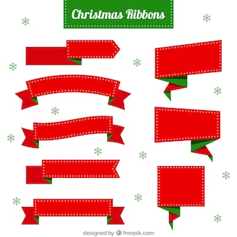 Fantastic christmas ribbons with green details