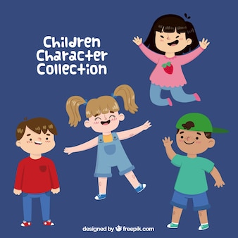 Fantastic collection of four cheerful kids