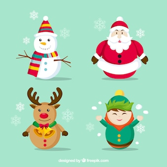 Fantastic collection of geometric christmas characters