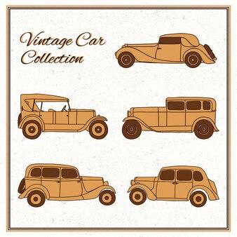 Fantastic collection of vintage cars