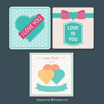 Fantastic decorative cards with hearts